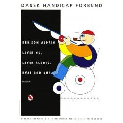 Piet Hein postkort: Den som aldrig lever