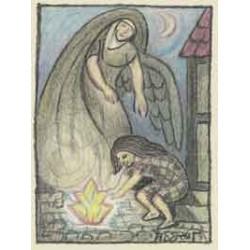 Sæt C: Henry Heerup julekort, Den lille pige med svovlstikkerne